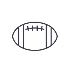 american football line icon sign vector image