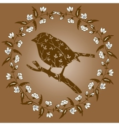 High quality original Silhouette of a bird on vector image vector image