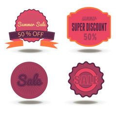 sale badge discount tag label promotion price vector image