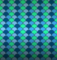 Seamless fish scale pattern background vector image