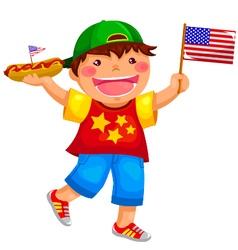 american boy vector image vector image