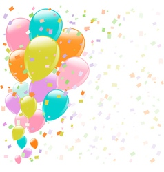 balloons background vector image vector image