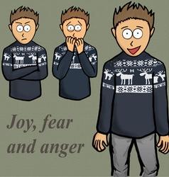 Boy emotion kid laugh people person vector image vector image