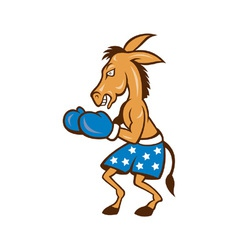Donkey Jackass Boxing Stance vector image vector image