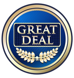 Great Deal Blue Label vector image vector image