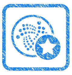 Iota favourites star framed stamp vector
