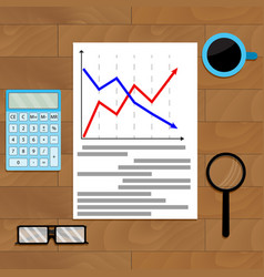 Statistic chart analysis vector