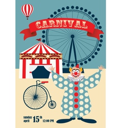 Vintage carnival or circus poste vector