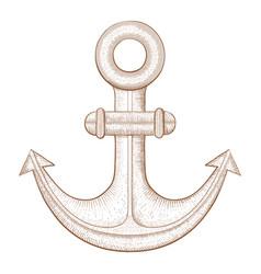 anchor hand drawn sketch vector image vector image