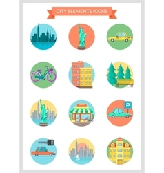 City elements vector image vector image
