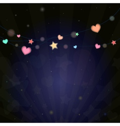colorful vivid lantern bokeh light in festival vector image vector image