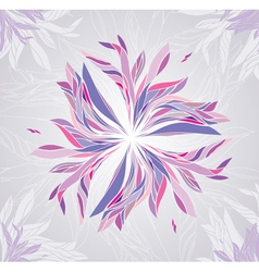 Multicolored flower vector image