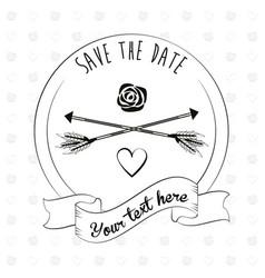 save the date invitation event decoration ornament vector image