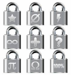 secure math symbols vector image