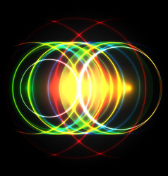shiny colorful circles vector image vector image