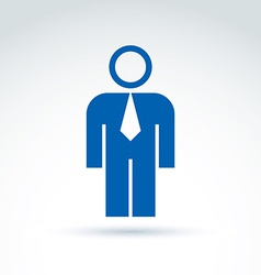 Silhouette of person standing in front - of vector image vector image