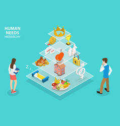 3d isometric flat concept maslow s vector image