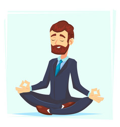 a calm young cartoon businessman vector image