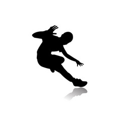 a male street dance hip hop dancer in silhouette vector image