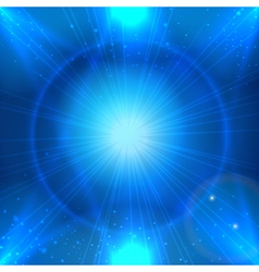 Abstract blue space background with light star vector