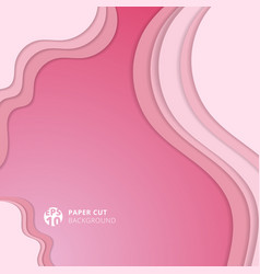 abstract realistic soft pink paper cut background vector image