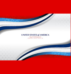 American wave background vector