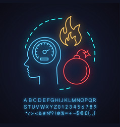 anger neon light concept icon vector image