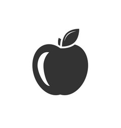 apple black icon vector image