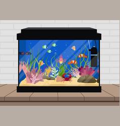 Aquarium flat vector