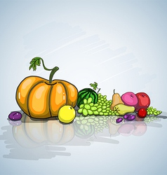 Autumn still life vector