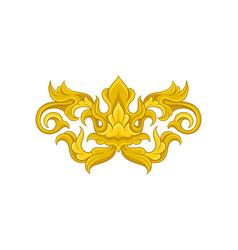 baroque ornament golden floral arabesque vector image