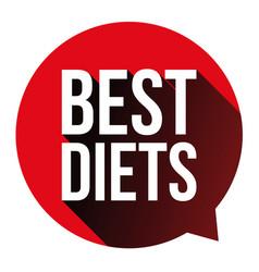 Best diets sign 3d button vector