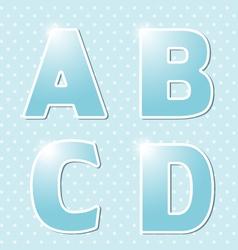 Blue alphabe vector