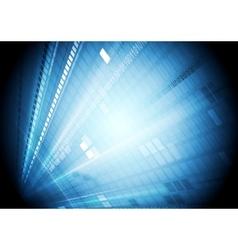 Blue shiny hi-tech motion background vector