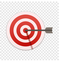 Bulls eye target icon cartoon style vector