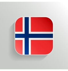 Button - Norway Flag Icon vector image