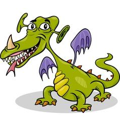cartoon funny monster or dragon vector image