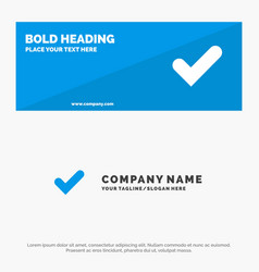 Check ok tick good solid icon website banner and vector