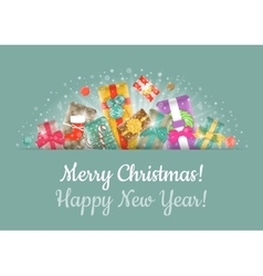 Christmas Gifts Background Horizontal Header vector image