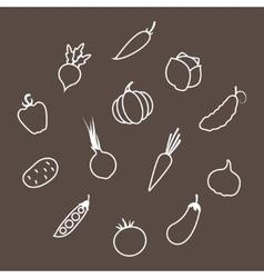 Contours Vegetables vector