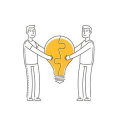 cooperation symbol business idea partnership vector image