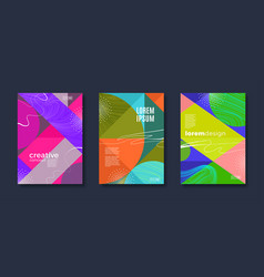 cover design with abstract geometric shapes vector image