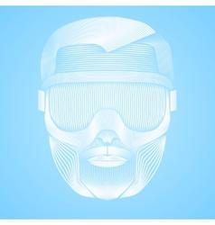 Creative Artwork of symbol skier or snowboarder vector image
