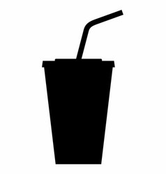 cup dark silhouette vector image