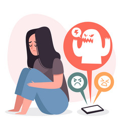 Cyber bullying concept vector
