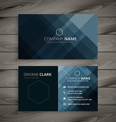 Dark business card presentation vector