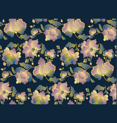 ethnic folk floral element for surface design vector image