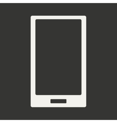 Flat in black and white mobile application mobile vector
