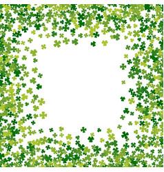 frame or border random scatter clover leaves vector image