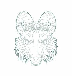 Goat s head vector